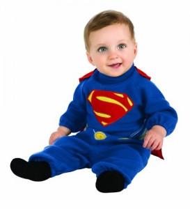 Rubie's Costume Man Of Steel Superman Romper, Blue/Red, 0-6 Months