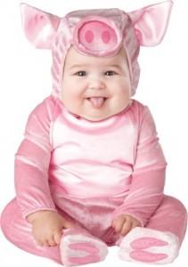 InCharacter Unisex-baby Infant Piggy Costume, Pink, Medium