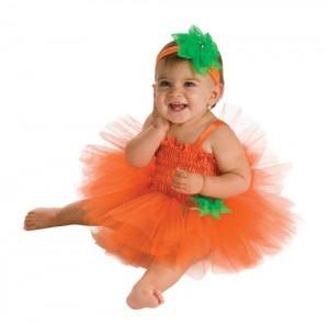 Rubie's Costume Newborn Pumpkin Tutu Dress, Orange, 6-9 Months