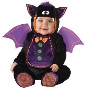 InCharacter Unisex-baby Infant Baby Bat Costume, Black/Purple, Large