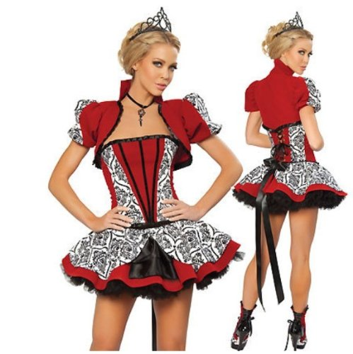 2013 Halloween Disguise Disney Royal Princess Adult Women Party Queen Costume M Size