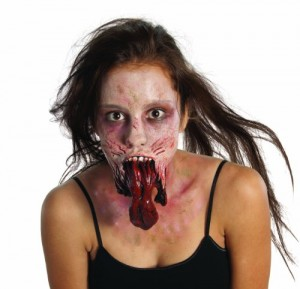 The Walking Dead Split Jaw Latex Mask, Standard color, One Size