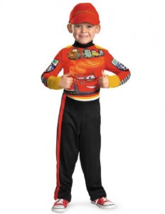 Disguise Baby-boys Lightning McQueen Costume Toddler Medium 3 / 4T Red and Black