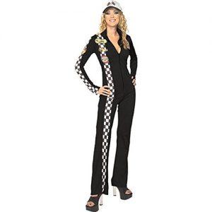 Sexy Black Car Racer Suit