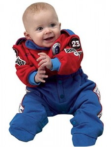 Aeromax Jr. Champion Racing Suit, Size 6 To 12 Month, (Red/Blue)