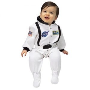 Jr. Astronaut Suit, size 6 to 12 Months (white)