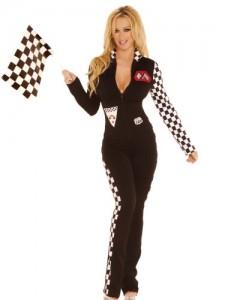 2 Piece Race Car Driver Costume (Multicoloured;Medium/Large)