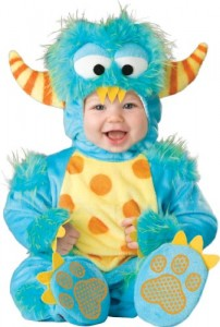 InCharacter Unisex-baby Infant Monster Costume, Blue/Yellow/Orange, Medium (12-18m)