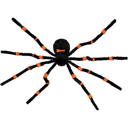 Dropping Orange Furry Spider Animated Prop, Orange