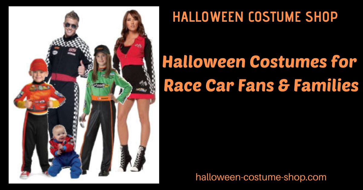 Halloween Costumes for Race Car Fans & Families