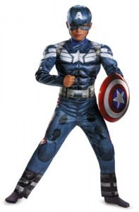 Disguise Marvel Captain America The Winter Soldier Movie 2 Captain America Classic Muscle Boys Costume, Small (4-6)