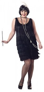 Halloween-Costume-Zone.com - California Costumes Women's Plus-Size Fashion Flapper Plus, Black, 1XL (16-18)
