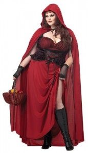 Halloween-Costume-Zone.com - California Costumes Women's Plus-Size Dark Red Riding Hood Plus, Red, 3X