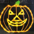 "Halloween-Costume-Zone.com - 15"" Lighted Halloween Jack-o-Lantern Pumpkin Window Silhouette Decoration"