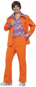 Forum Novelties Men's 70's Leisure Suit Costume, Orange, Standard
