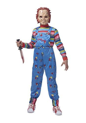 Franco chucky child good guys killer doll costume l xl for Chucky long sleeve striped shirt