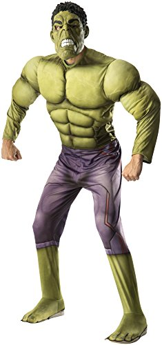 Rubie's Men's Avengers 2 Age Of Ultron Adult Deluxe Hulk Costume, Green