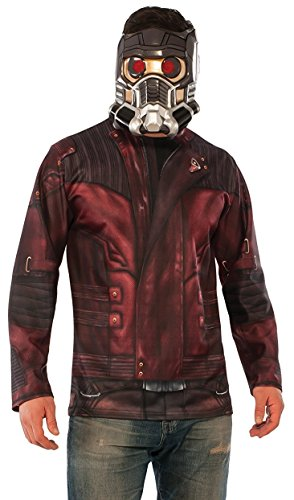 Rubie's Men's Marvel Guardians of the Galaxy Vol. 2 Star-Lord Costume Top and Mask
