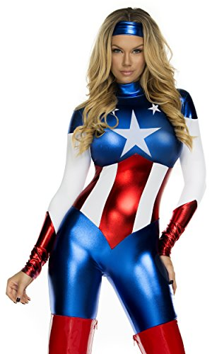Forplay Women's Star Spangled Hero Catsuit