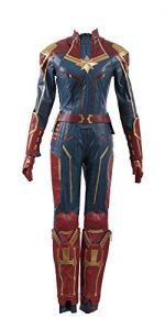 Captain Marvel Carol Danvers Superhero Cosplay Costume Leather Girl Outfit