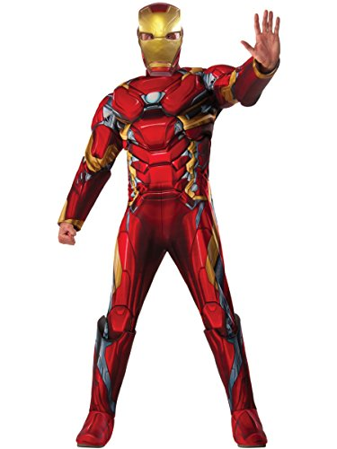 Marvel Men's Captain America: Civil War Deluxe Muscle Chest Iron Man Costume